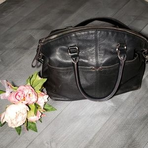 Tignanello black shoulder bag genuine leather